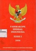 farmakope Herbal Indonesia 1